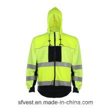 Толстовки с капюшоном Fr Высокая видимость Светоотражающая швейная рубашка Огнестойкий материал Swearshirt