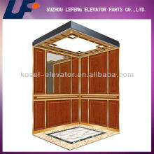 Wood and Glass Mirror Passenger Elevator