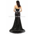 Pailletten Body Conscious bieten Schulter Großhandel Damen Kleid schwarz Abendkleid