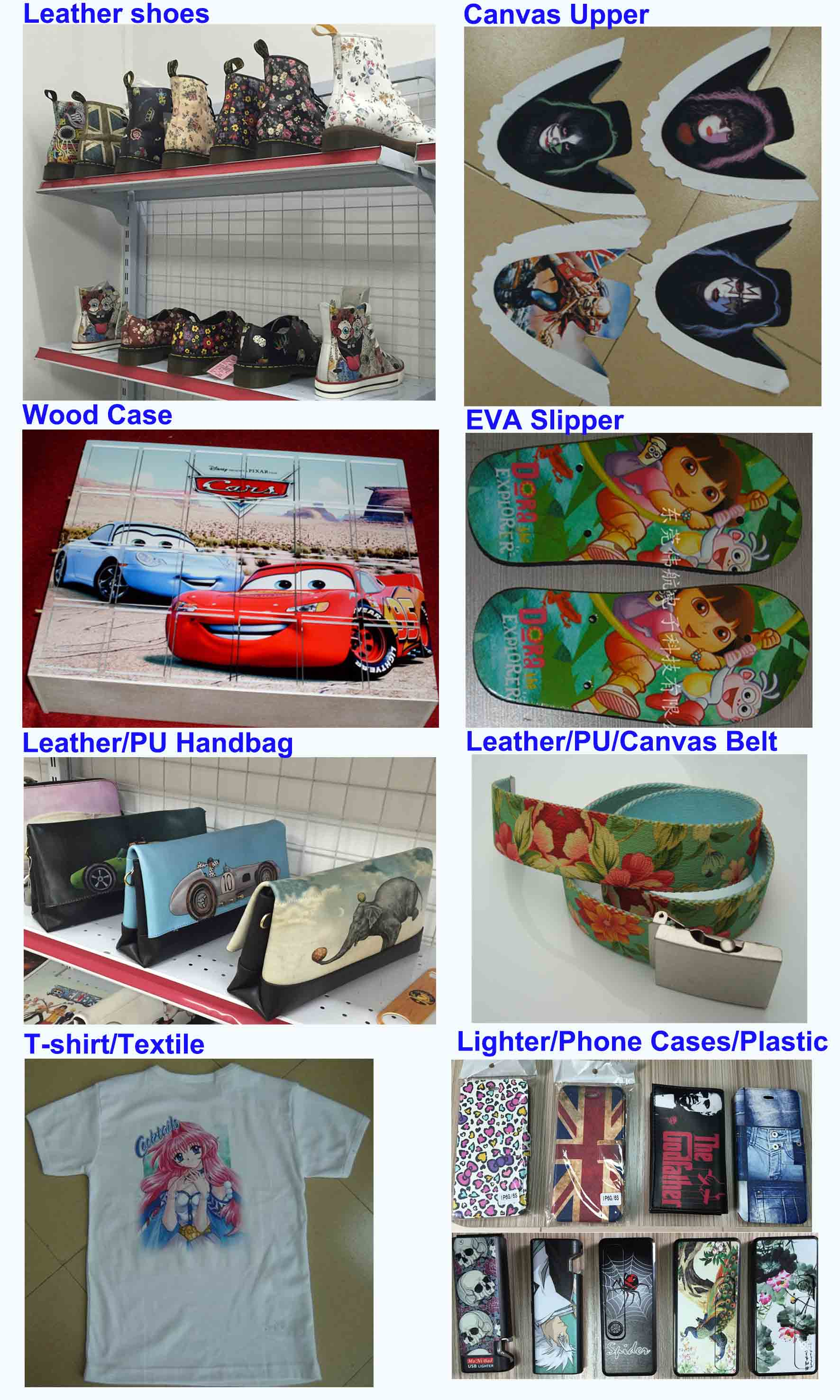 weihang digital flatbed printer sample