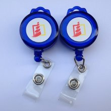 Plastic/Metal Retractable Custom ID Card Holder Badge Reels Yoyo for Lanyards