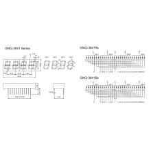 0,39 polegadas 4 dígitos 7 segmento de exibição (GNS-3941Ax-Bx)