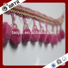 Lazo de encaje de cuentas de franja para la decoración de la cortina