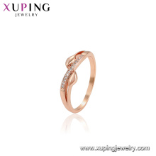 15596 xuping beautiful rose gold rings designs fashion design rings jewelry for women