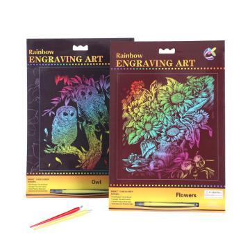 Carte de Rainbow Scratch Paper Crafts nouveauté