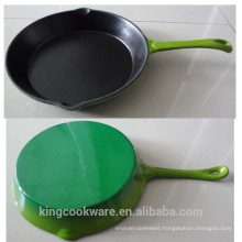 various color round cast iron frying pan/fry pan/skillet
