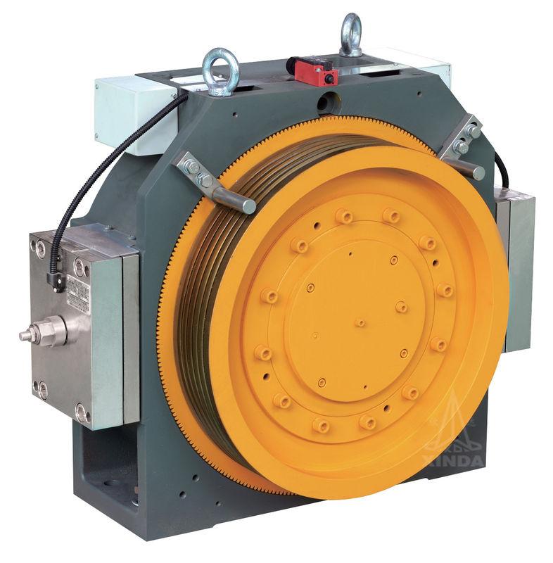 Gearless Elevator Traction Machine With Block Brake