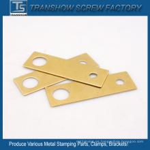 Piezas de estampado de metal revestido de latón