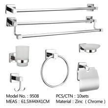 Ensemble de quincaillerie de salle de bain chrome peignoir crochet bar anneau de serviette porte-serviettes en papier porte-savon porte-brosse de toilette rack accessoires de salle de bain