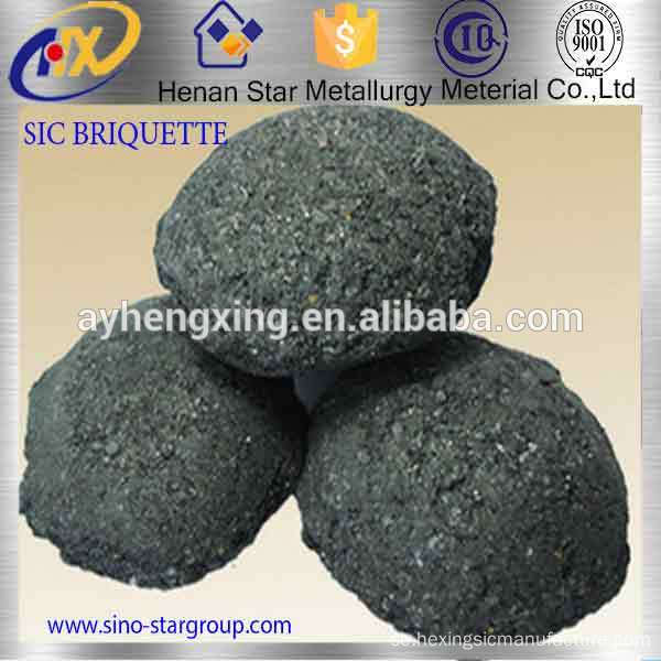 Professionell Tillverkare Black Silicon Carbide Briquette Deoxidizer For Steelmaking