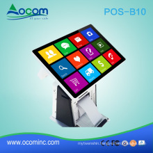 "POS-B10 Windows or android 10.1"" all in one touch screen pos machine price with embedded printer"