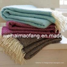 Шерсть Мерино бросить одеяло (NMQ-WT048)