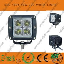 Luz de trabalho LED 16W CREE quadrada de 3 polegadas Farol principal de nevoeiro 12 / 24V DC para dirigir fora da estrada