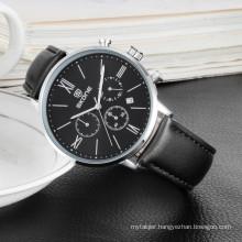 Elegant leather chronograph watch sport watch men 2017