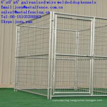 Factory supplying metal galvanized dog runs 1.8m x 2.4m x1.8m large dog cages gate latch dog kennels