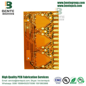 "Gold Plating 30U"" 1OZ 2 Layers Flexible board BentePCB"