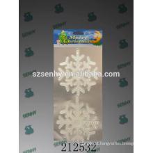 Decorações de pingente de natal de floco de neve de cristal faddish