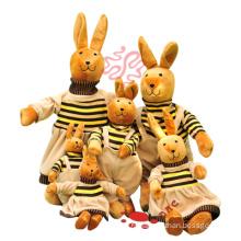Funny Stuffed Plush Family Rabbit Plush Gift