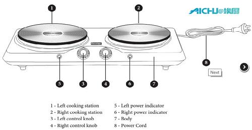 Presige Concealed Heating Plate Stove