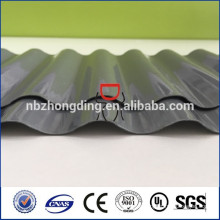 1mm thickness grey polycarbonate corrugated sheet