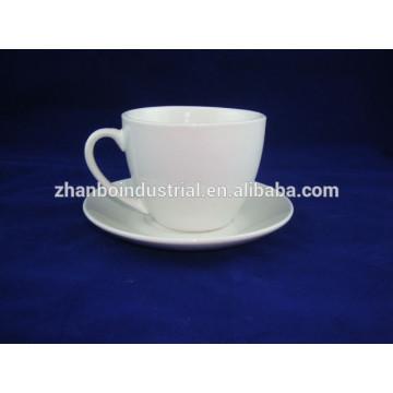 Taza de café de porcelana y platillo, conjunto de café espresso