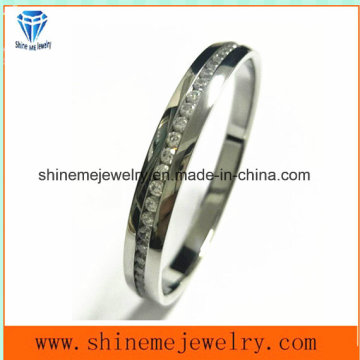 Bijoux Shineme Bracelet en acier inoxydable de haute qualité avec pierre