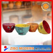 Cuencos de cerámica con diseño de nariz de lujo