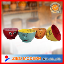 Ceramic Bowls with Fancy Nose Design
