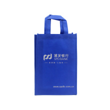 Blue Reusable Custom Non Woven Handle Bag