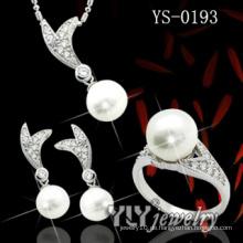 925 Sterling Silber Süßwasser Perle Set (YS-0193)