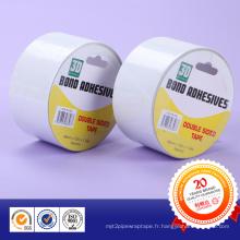 Crochets de film acrylique et distributeurs de savon Ruban adhésif double face imperméable blanc