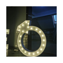 Custom outdoor decorative led marquee love bulb letters signs free standing letters wholesale