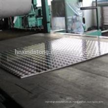 placa de piso de alumínio