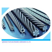 DIN3055 Galvanzied cable cuerda de alambre de acero
