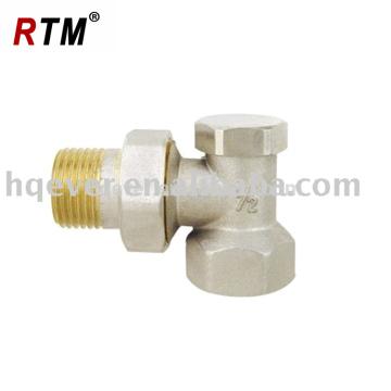 Válvula de radiador de ângulo de latão forjado com trava
