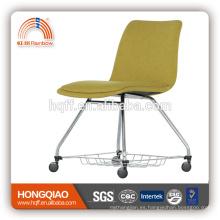 CV-B193BSD PU respaldo y asiento de metal cromado base silla de la escuela silla de oficina