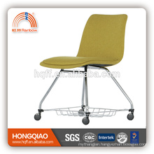 CV-B193BSD PU back&seat chrome metal base school chair office chair