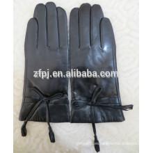 2015 guantes de cuero con guantes de lana estilo guantes