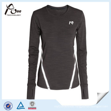 Women Spandex Polyester Long Sleeve Wholesale Running Wear