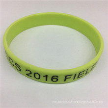 Fashion Simple Printed Single Color Customized Silicone Bracelet
