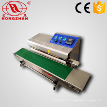 Continuous Band Sealer Horizontal Type Plastic Film Heat Sealing machine with Date Coding