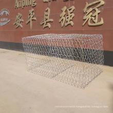 2m x 1m x 1m standard galvanized hexagonal mesh gabion basket sizes/ 250g/m2 zinc galvanized gabion box