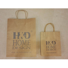 Brown Kraft Paper Shopping Bag-H & D