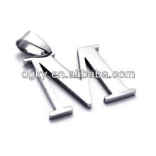 Collares de acero inoxidable 26 colgantes Colgantes de letras del alfabeto