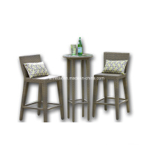 Rattan Outdoor Garden Wicker Patio Furniture Bar Stool Set