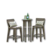 Ротанг Открытый плетеная сад Патио мебель бар стул набор