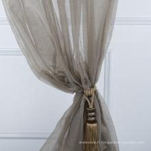 Dernier produit rideau moderne en organza de bonne transparence