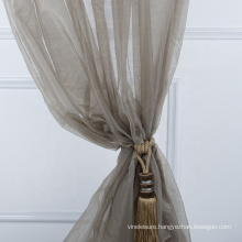 Latest product good transparency organza modern curtain
