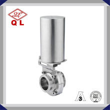 Sanitary Pneumatic Clamp End Butterfly Valve