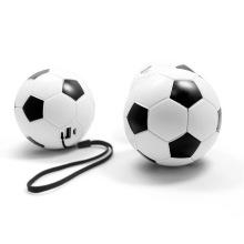 Banco de poder do futebol para o mundo acima. Carregador promocional do presente Mobile